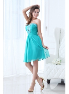 Sweet Teal Blue Short Junior Prom Dress