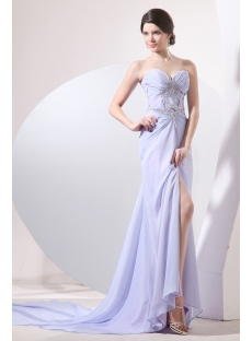 Sweetheart Lavender 2014 Evening Dress with Detachable Train