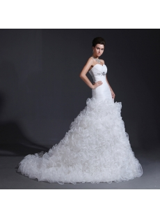 Sweetheart Mermaid Ruffled Wedding Dresses 2014