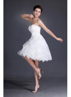 Sweetheart Super Cute Short Wedding dresses