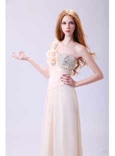 Terrific Champagne One Shoulder 2011 Prom Dress