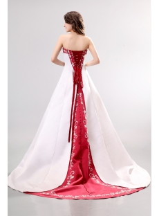 Unique Red 2013 Wedding Dress with Embroidery