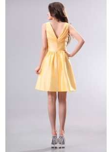 Yellow Taffeta Short Junior Prom Dresses