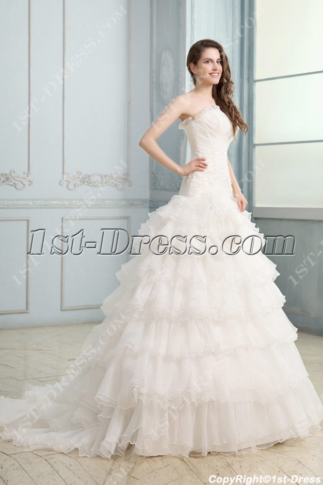 Attractive Strapless Mermaid Corset Bridal Gowns:1st-dress.com