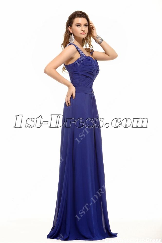Brilliant Royal Blue Plus Size Prom Gown1st Dress