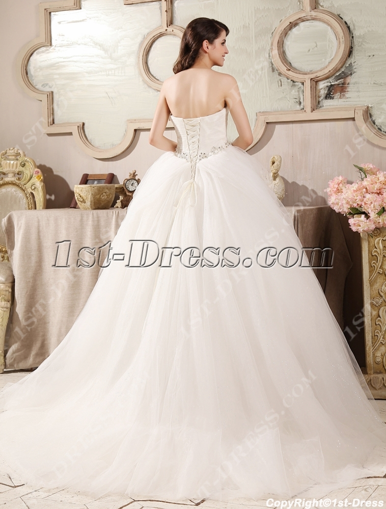7f12767137dc Cinderella Tulle Sweetheart Ball Gown Wedding Dress (Free Shipping)