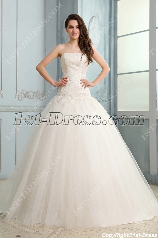 cf215568fc Concise Drop Waist Mermaid Wedding Dress
