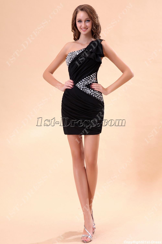 c6a7ea65229a Cute One Shoulder Little Black Club Dresses (Free Shipping)