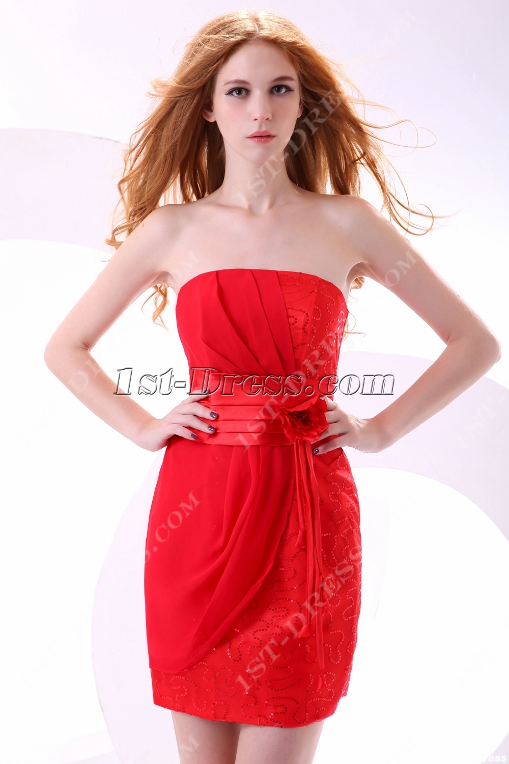 plus size red club dresses