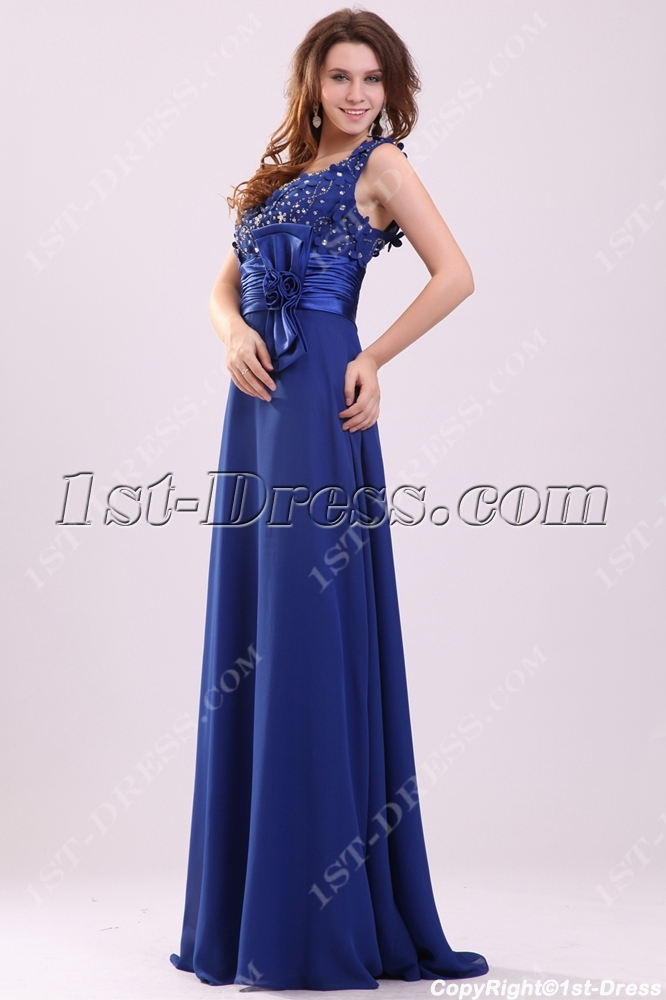 Dramatic Royal Queen Anne Plus Size Mother of Groom Dress:1st-dress.com