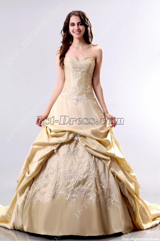Elegant Champagne 2013 Bridal Gowns