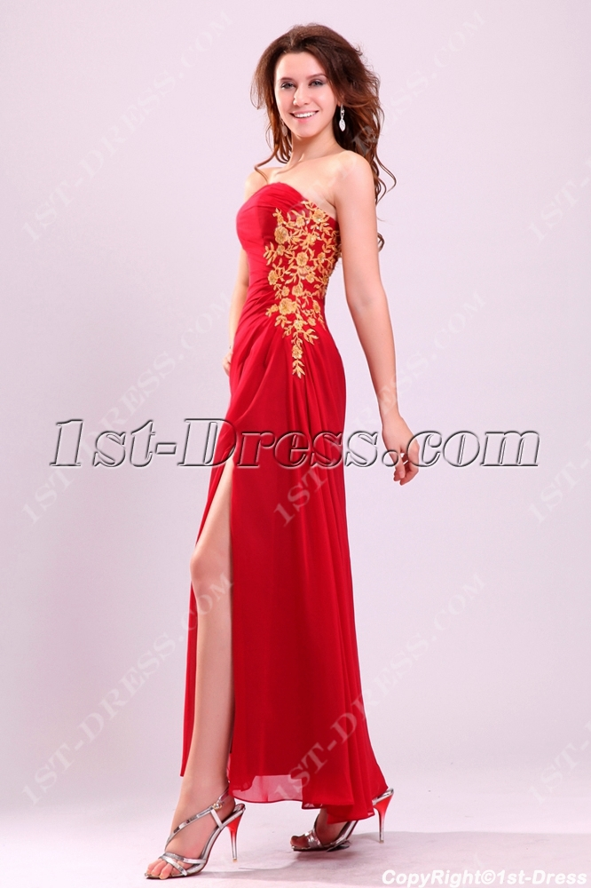 Long Party Dress with Slit