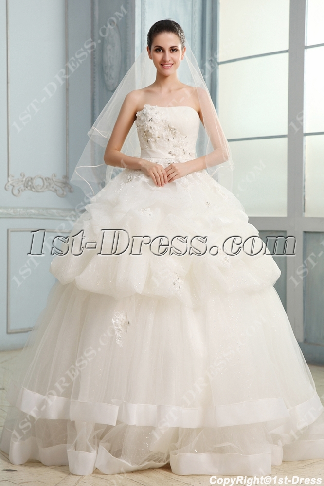 Fantastic Sweetheart Casual Ball Gown Wedding Dress with Corset:1st ...