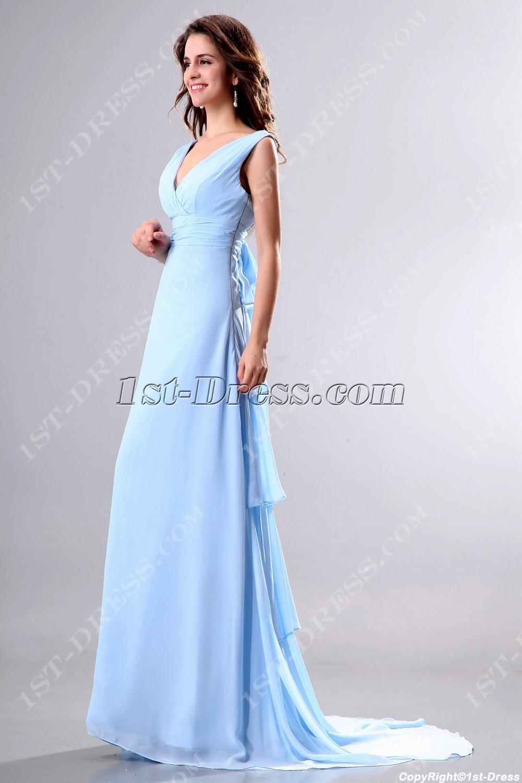 Evening Dresses Light Blue 49