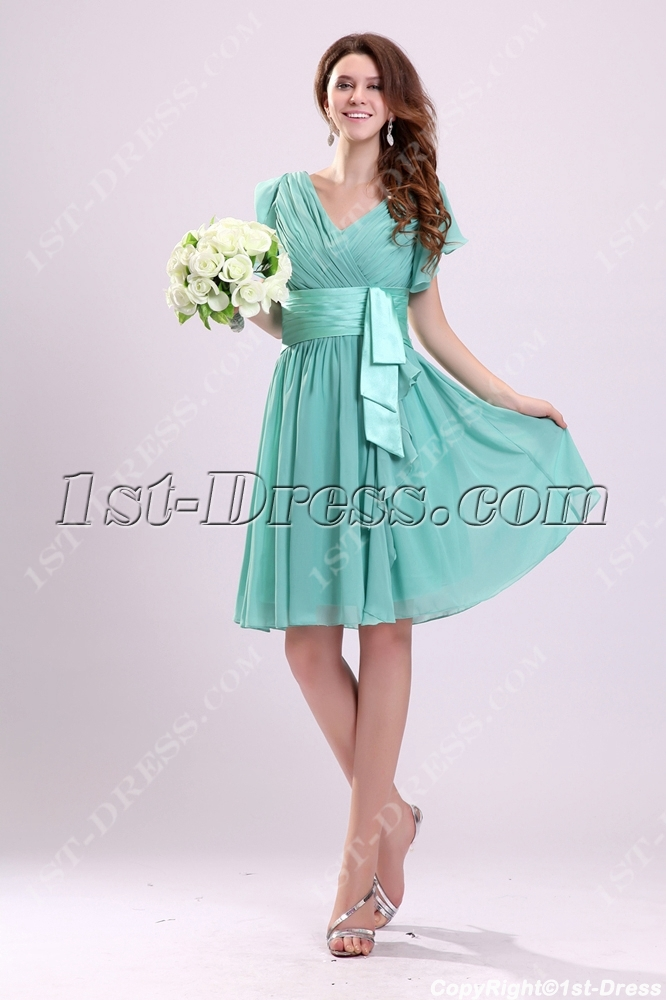 73eaa05bdd Lovely Sage Chiffon Butterfly Sleeves Cocktail Dress (Free Shipping)