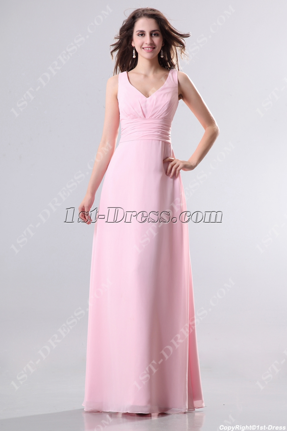 images/201311/big/Pink-Plus-Size-Homecoming-Dress-with-V-Neckline-3494-b-1-1384265277.jpg