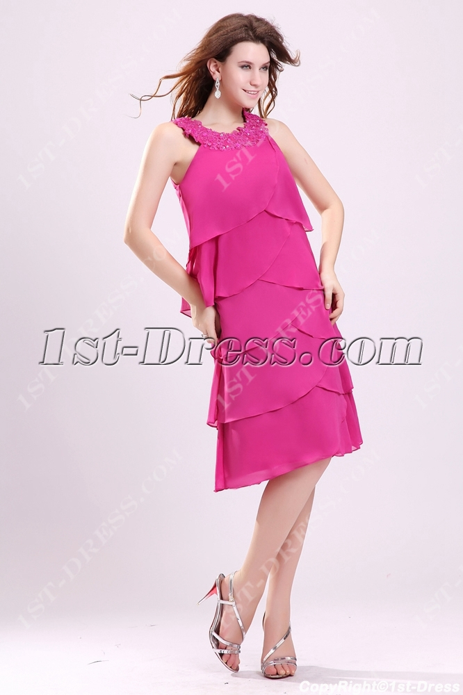 9c8734da14 Pretty Hot Pink Mother of the Bride Dresses for Older Women 1st ...