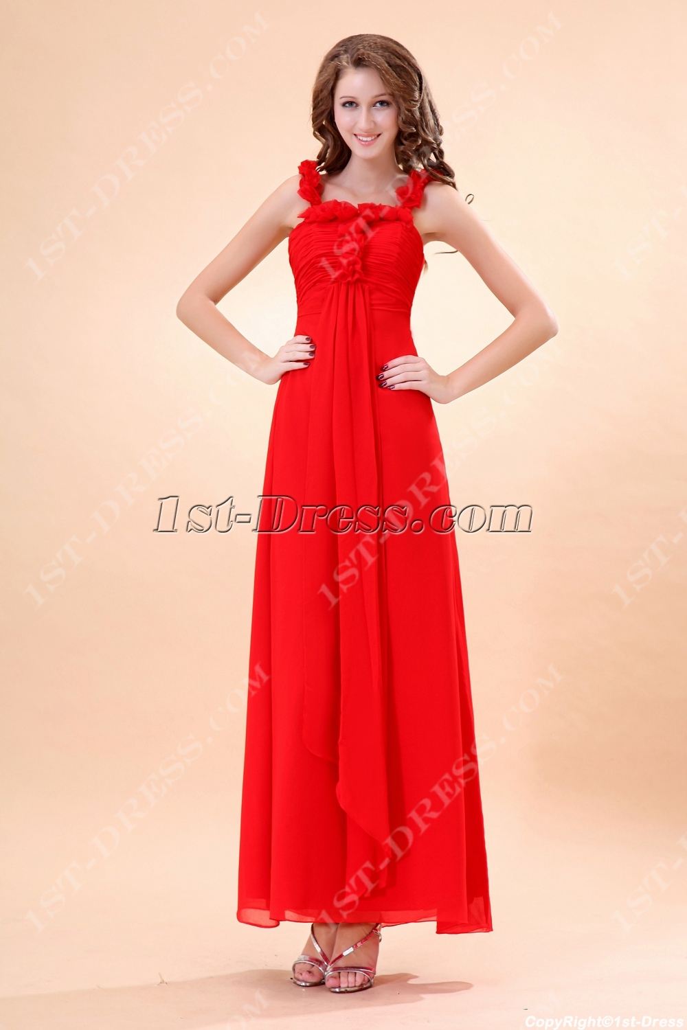 Red ankle length baby doll pregnant bridesmaid dress1st dress red ankle length baby doll pregnant bridesmaid dress loading zoom ombrellifo Gallery