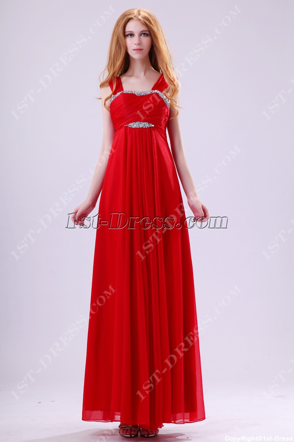 Red Straps Plus Size Graduation Dresses for 8th Grade Girls $165.00