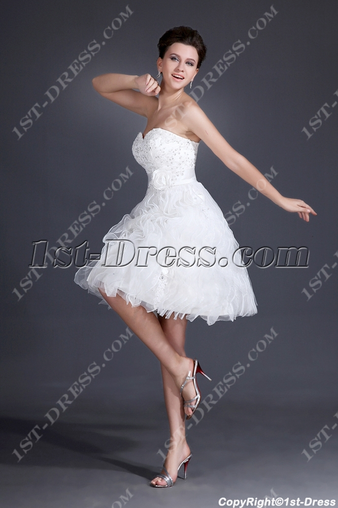 Sweetheart Super Cute Short Wedding dresses