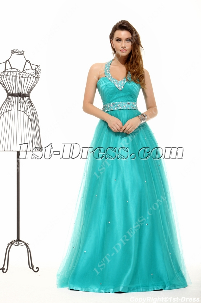 images/201311/big/Teal-Blue-Halter-Plus-Size-Quince-Gown-3664-b-1-1385742910.jpg