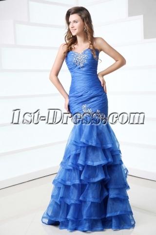 Amazing Periwinkle Fishtail Pageant Dress