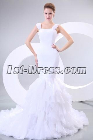 Beautiful Straps Mermaid Wedding Dress 2013