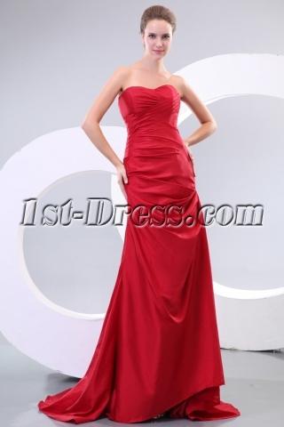 Burgundy Sweetheart Corset Formal Evening Dresses on Sale