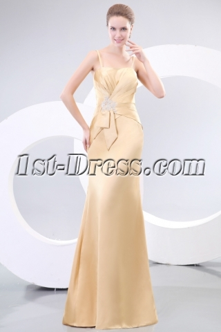 Charming Champagne Sheath Prom Dress for Mother of Brides