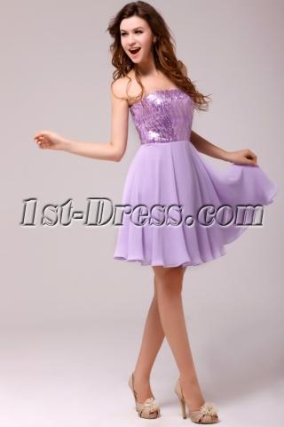 Charming Lilac Short Sweet 16 Dress