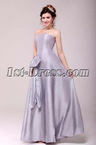 Charming Silver Strapless A-line Graduation Dress Cheap
