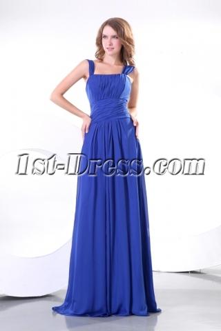 Chic Straps Chiffon Plus Size Formal Dress