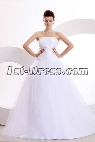 Concise Strapless Wedding Dress in Wholesale Price