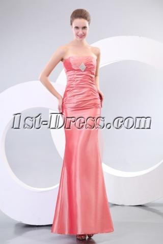 Coral Sheath Stunning Evening Dresses