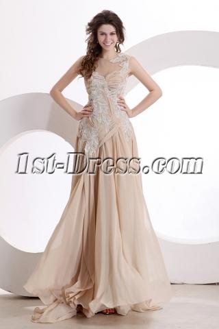 Exquisite Illusion Evening Dress 2014 New Arrival