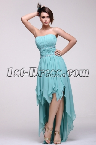Fashionable Strapless High-low Homecoming Dress