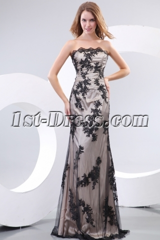 George Black Lace Military Party Dress