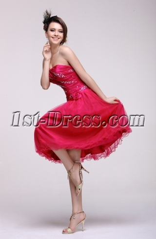 Hot Pink Sweet Cocktail Dresses for Juniors
