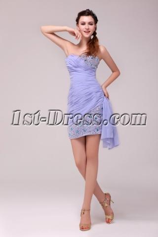 Lavender Sweetheart Mini Graduation Party Dress