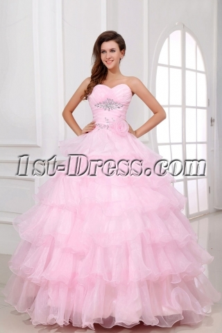 Pink Long Pretty baile de debutantes Dress