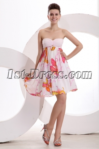 Pink Sweet Strapless Short Homecoming Dress
