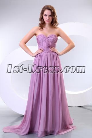 Pretty Lilac Plus Size Evening Cocktail Dresses