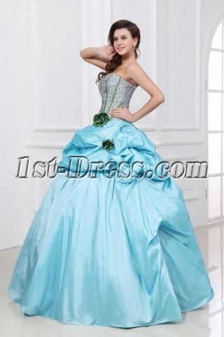 Pretty Pick up Skirt Aqua festa de quinze anos Dress 2014