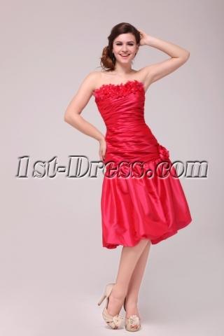 Pretty Watermelon Homecoming Dresses Short Strapless
