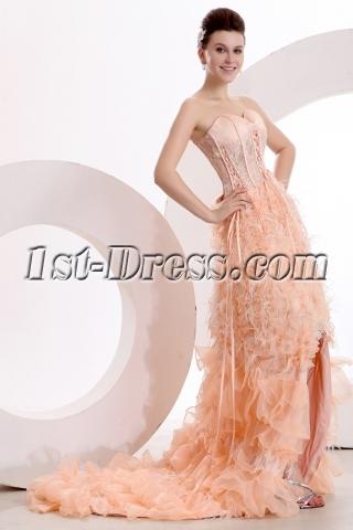 Romantic Beach Wedding Dress with High-low Hem