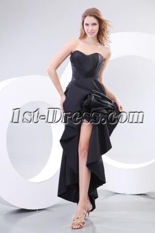 Romantic Black Sexy Evening Dresses with Slit