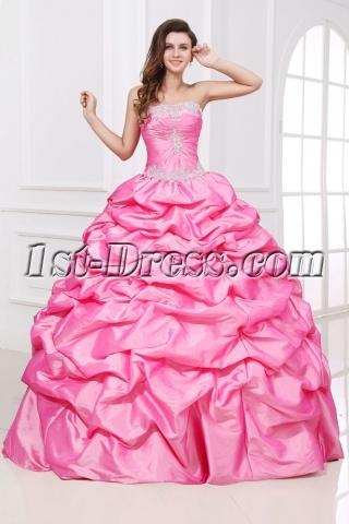 Romantic Long Pink festa de debutantes Dress