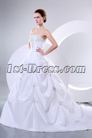 Romantic Strapless Bridal Gowns Perth Western Australia