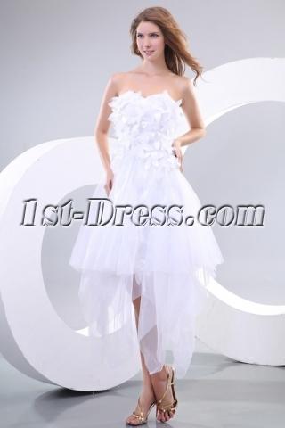 Romantic White Short Gothic Prom Dresses