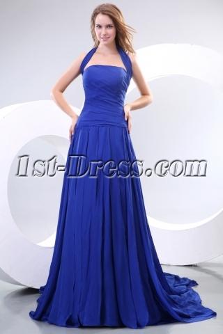 Royal Halter Long Princess Prom Dresses